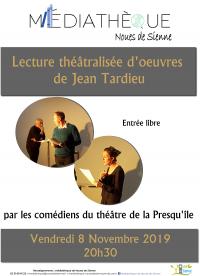 Lecture en public par le Théâtre de la Presqu'île