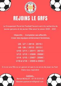 """GRFS : rentrée 2020 """"ballon au pied"""""""