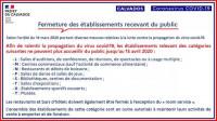 CORONAVIRUS : activités suspendues